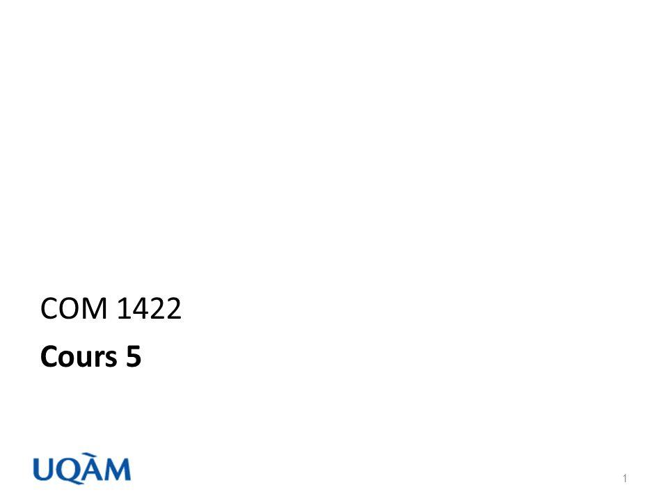 Plan de la séance 5 Rappel Nouvelle matière – Le questionnaires – Les questions – Invitation – Remerciement et relance – Pré-enquête Résumé Suggestion de la semaine NOTES DE COURS COM 1422 HIVER 2010 2