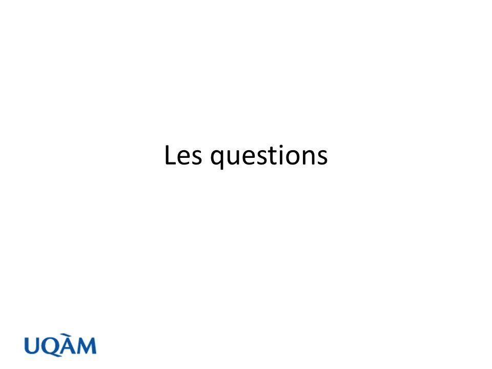 Types de question (note: cette liste nest pas exhaustive…) Question de comportement Question dopinion Question dintention ou danticipation Question de connaissance Renseignements signalétiques