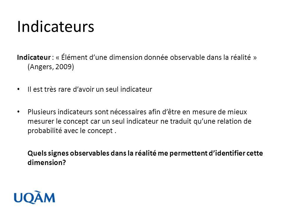 Rappel sur la notion de cadre opératoire (selon Angers, 2009) Concept: Représentation mentale générale et abstraite dun ou de plusieurs phénomènes ainsi que de leurs relations.