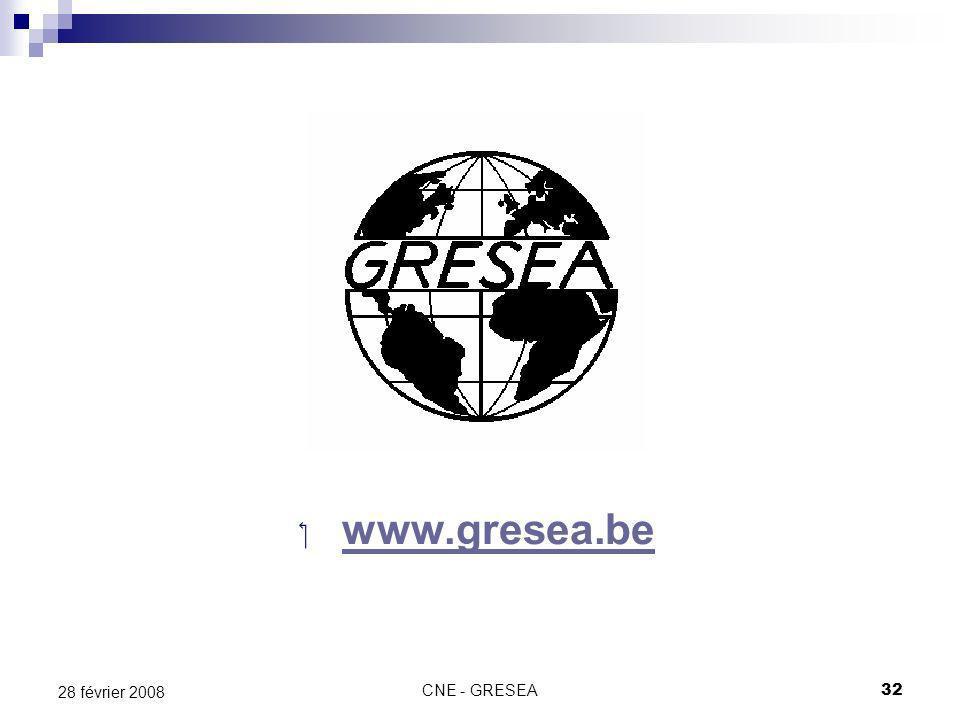 CNE - GRESEA32 28 février 2008 www.gresea.be