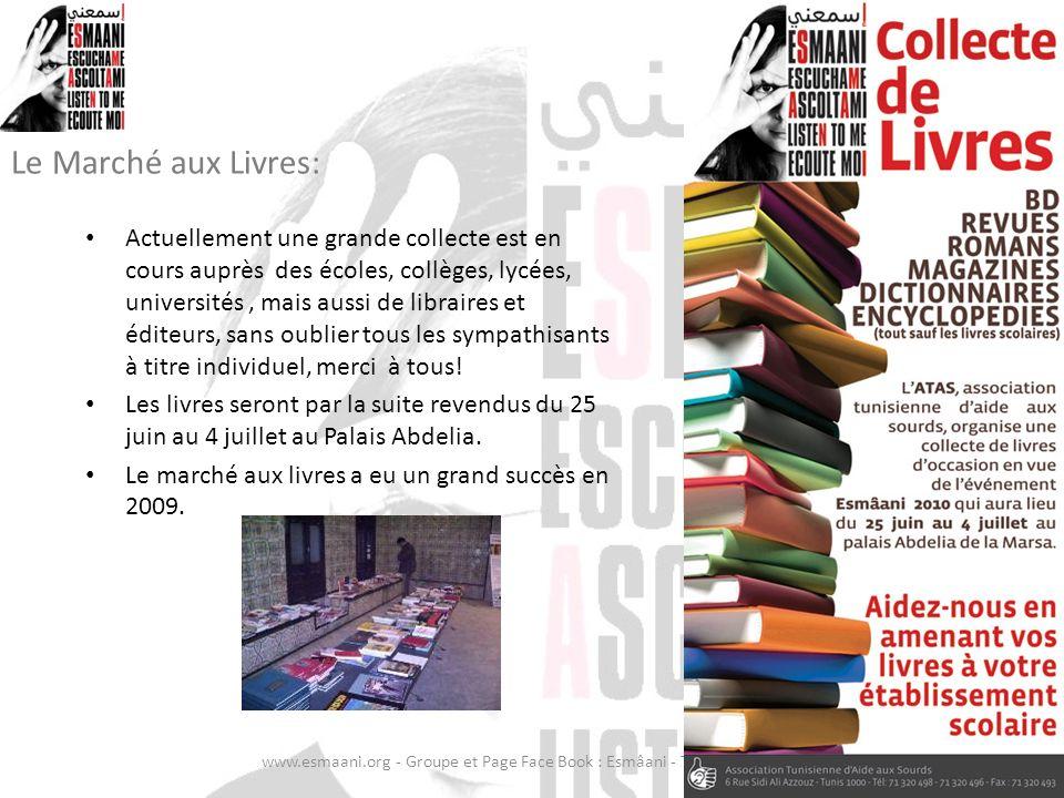Le Marché aux Livres: Actuellement une grande collecte est en cours auprès des écoles, collèges, lycées, universités, mais aussi de libraires et édite