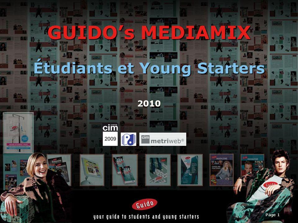 Page 1 GUIDOs MEDIAMIX Étudiants et Young Starters 2010