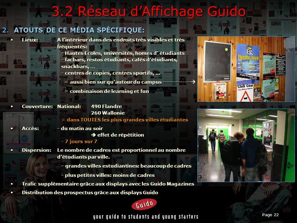 Page 22 3.2 Réseau dAffichage Guido 2.