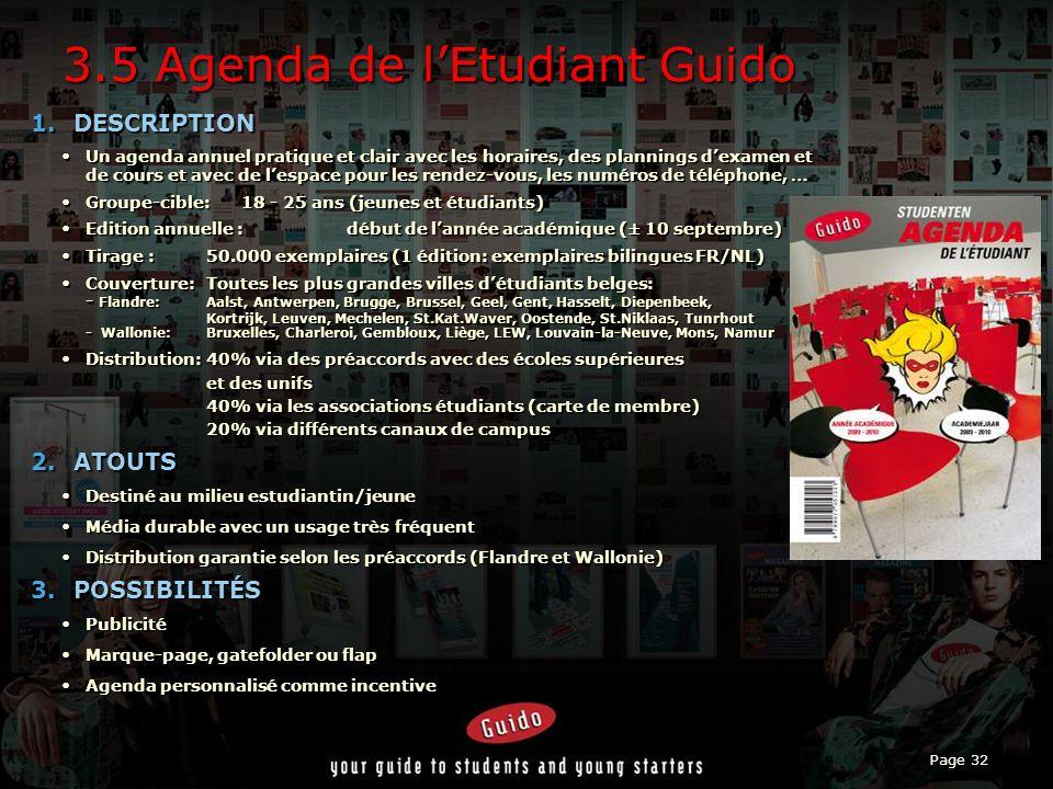 Page 32 3.5 Agenda de lEtudiant Guido 1.