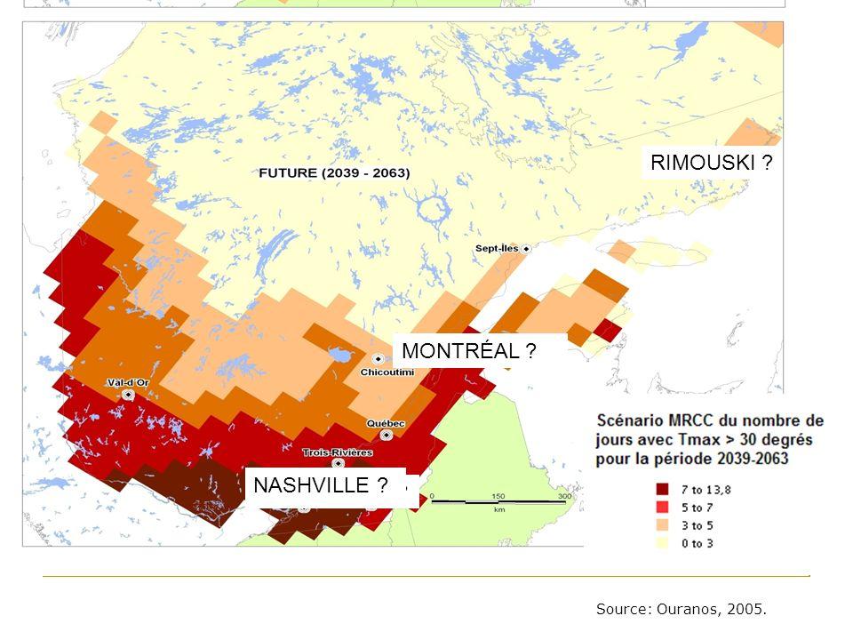 Données de base sur le Québec In: Évaluation nationale santé et CC 2008 Figure 2 : Nombre de catastrophes naturelles au Canada, de 1900 à 2002 Note : Seules les catastrophes hydrométéorologiques sont associées au climat.