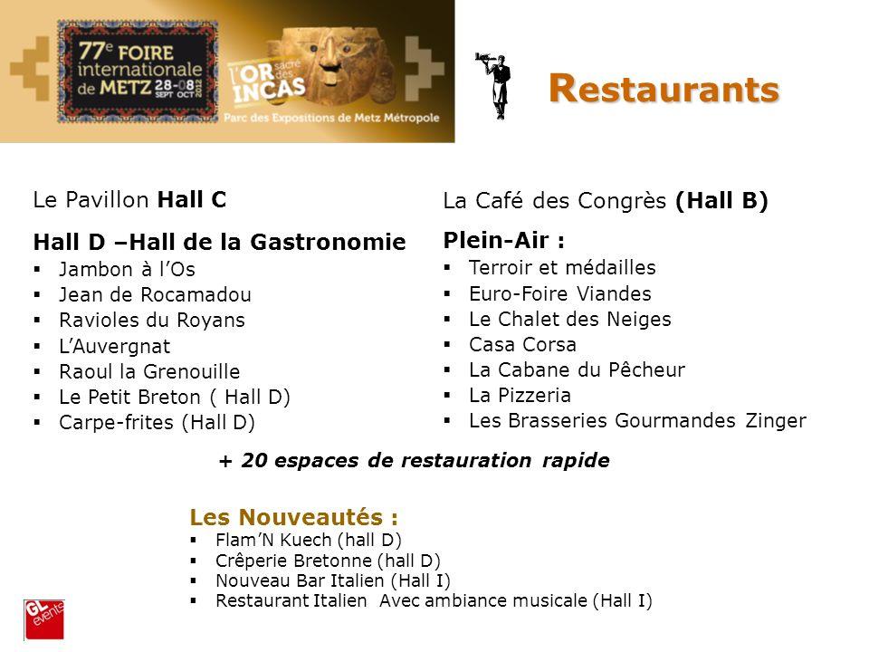 Le Pavillon Hall C Hall D –Hall de la Gastronomie Jambon à lOs Jean de Rocamadou Ravioles du Royans LAuvergnat Raoul la Grenouille Le Petit Breton ( H