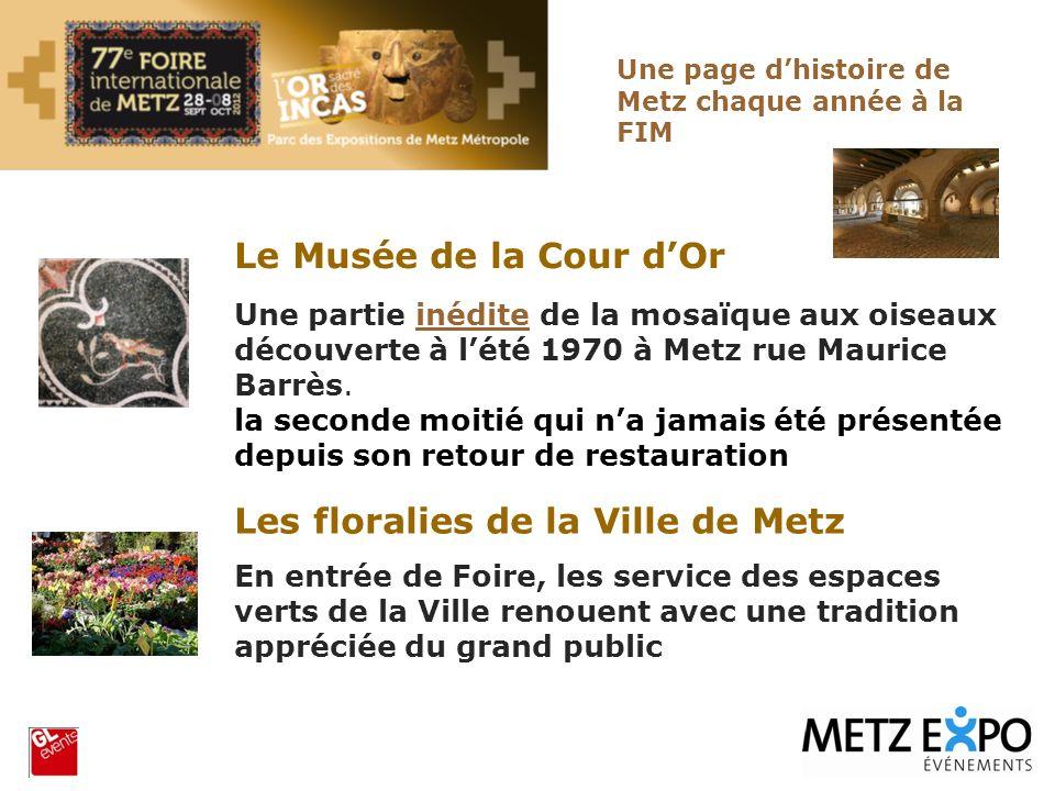 Les floralies de la Ville de Metz En entrée de Foire, les service des espaces verts de la Ville renouent avec une tradition appréciée du grand public