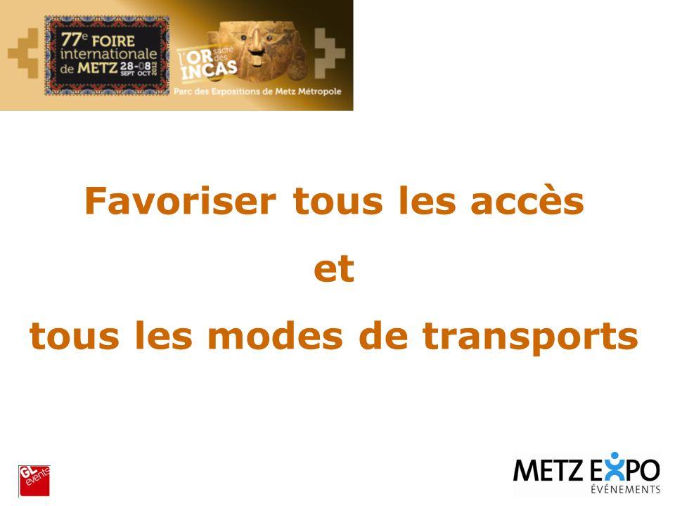 Favoriser tous les accès et tous les modes de transports
