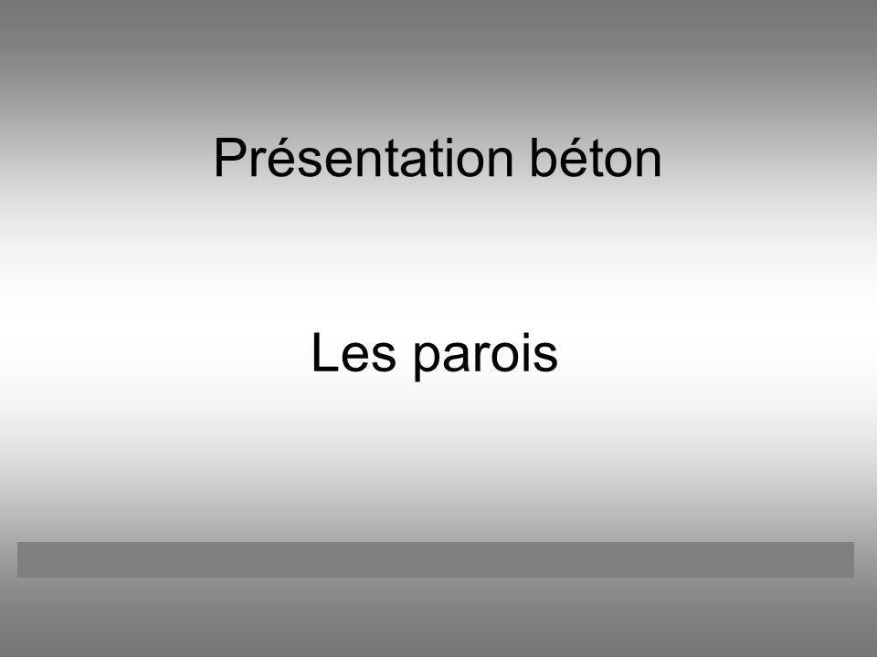 Présentation béton Les parois Catherine BOREUXFrançois LATOURHenri GRANDJEANJulien GREGOIRE