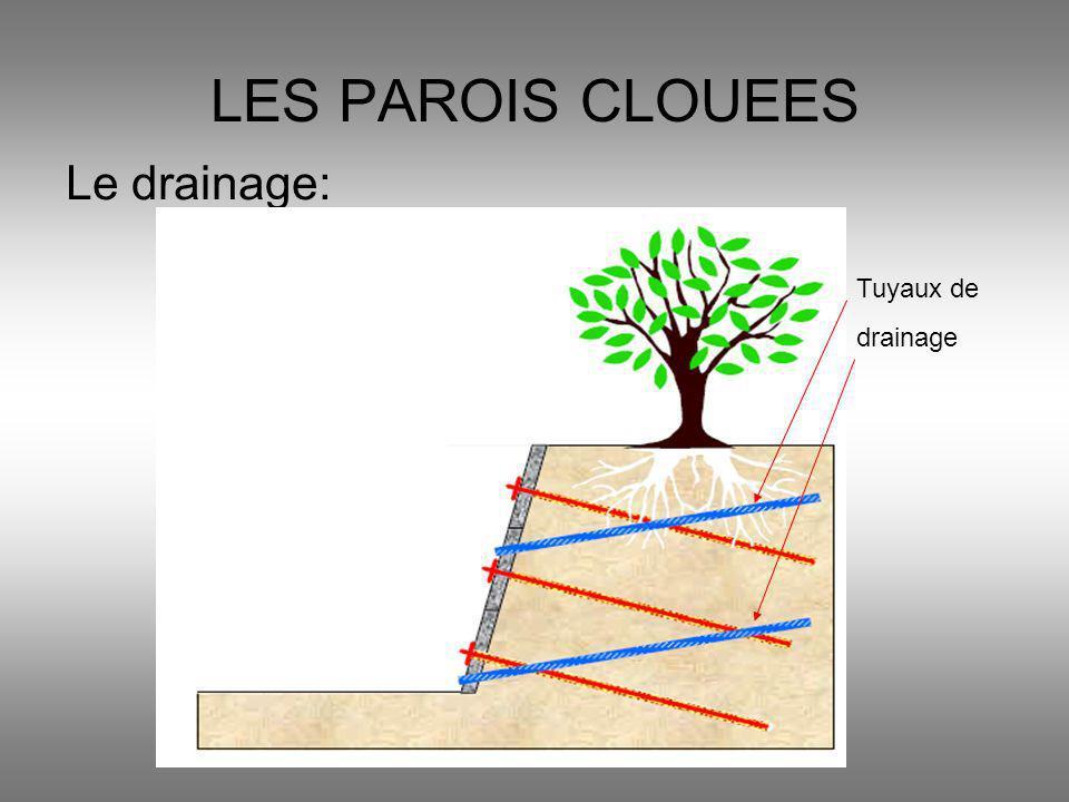 Le drainage: LES PAROIS CLOUEES Tuyaux de drainage