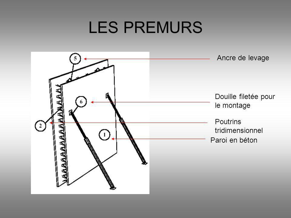 LES PREMURS Paroi en béton Poutrins tridimensionnel Ancre de levage Douille filetée pour le montage