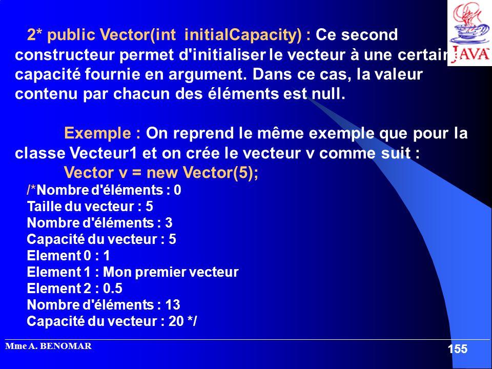 _____________________________________________________________________________________________________ Mme A. BENOMAR 155 2* public Vector(int initialC