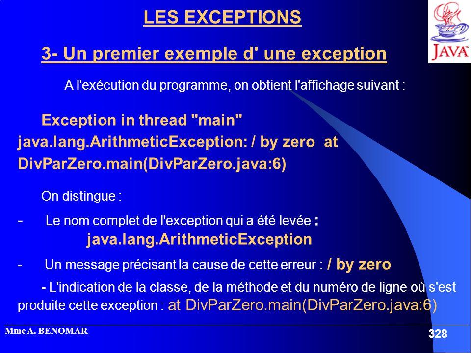 _____________________________________________________________________________________________________ Mme A. BENOMAR 328 LES EXCEPTIONS 3- Un premier