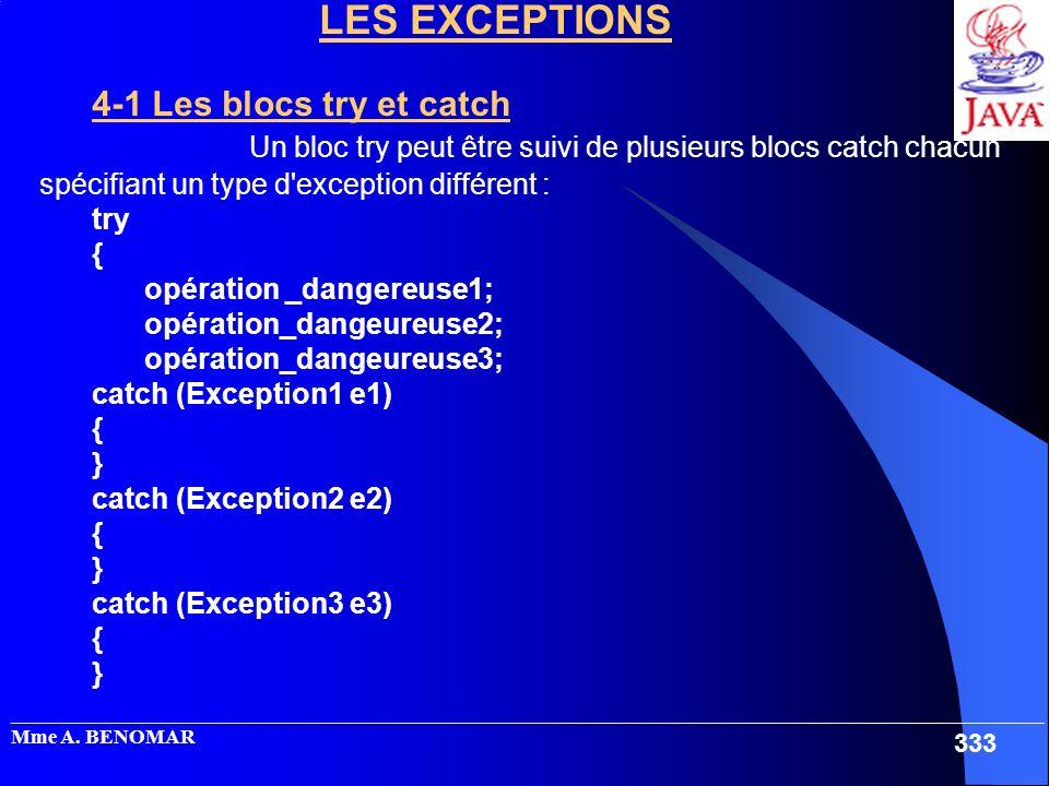 _____________________________________________________________________________________________________ Mme A. BENOMAR 333 LES EXCEPTIONS 4-1 Les blocs