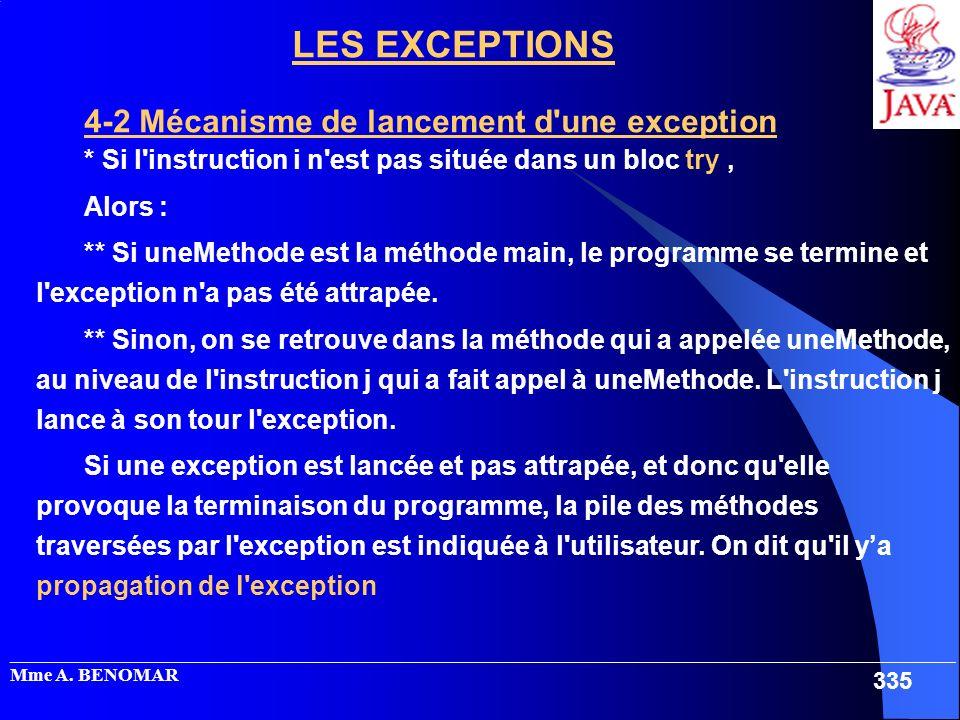 _____________________________________________________________________________________________________ Mme A. BENOMAR 335 LES EXCEPTIONS 4-2 Mécanisme