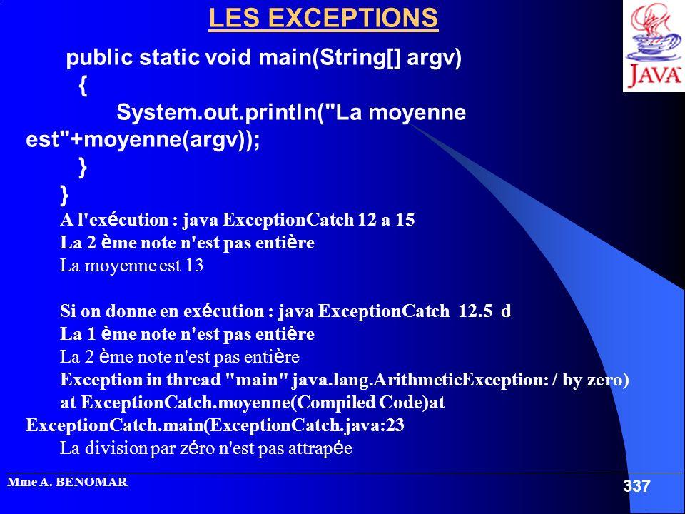_____________________________________________________________________________________________________ Mme A. BENOMAR 337 LES EXCEPTIONS public static