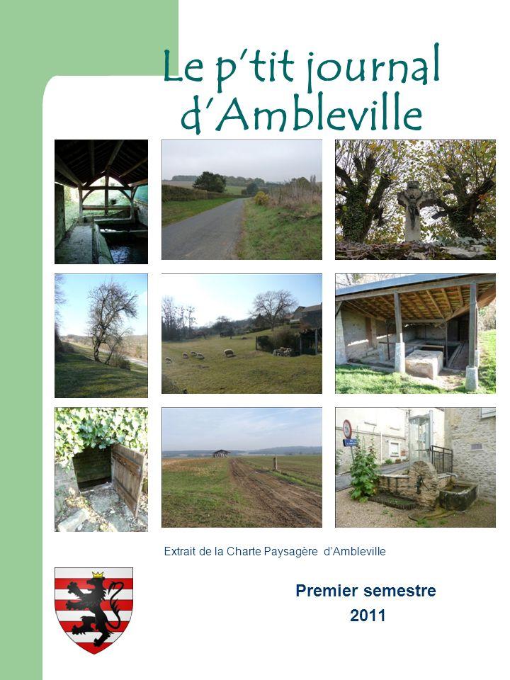 Premier semestre 2011 Le ptit journal dAmbleville Extrait de la Charte Paysagère dAmbleville