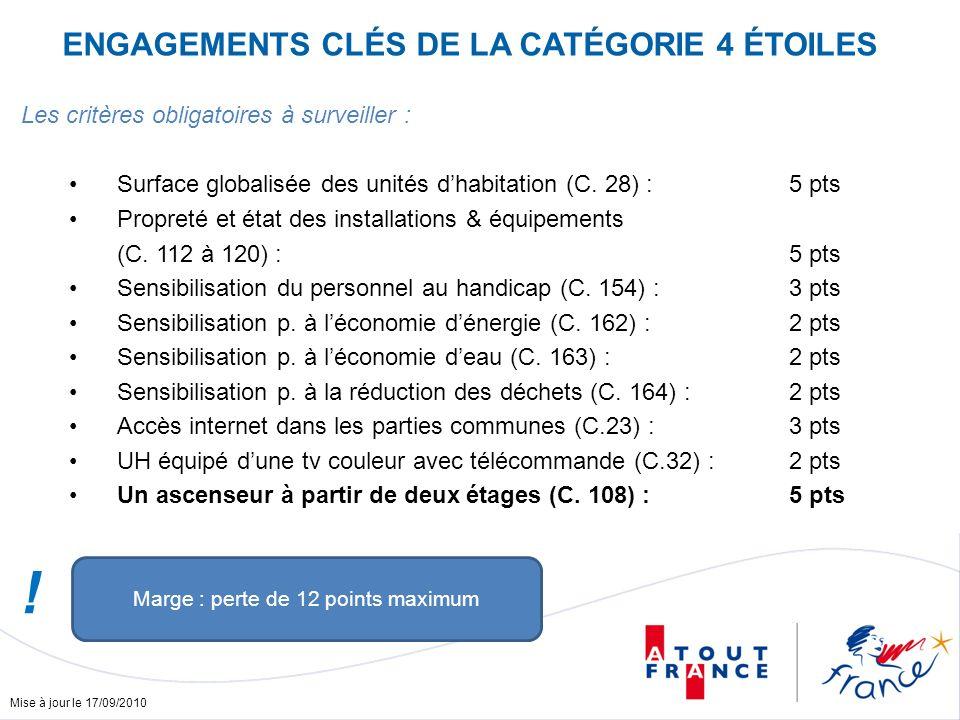 Mise à jour le 17/09/2010 Les critères obligatoires à surveiller : Surface globalisée des unités dhabitation (C.
