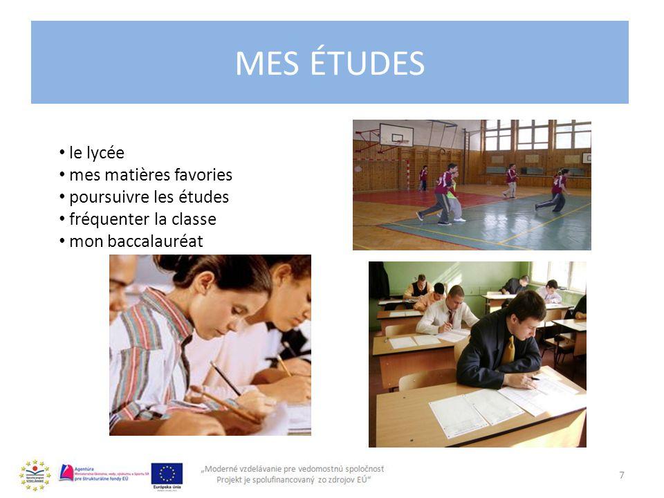 L´UNIVERSITÉ 8 les études durent 5 ans ou 6 ans l´Université Comenius, l´Université Technique, l´Université Matej Bel plusieurs facultés passer un examen ´admmission la bourse l´épreuve