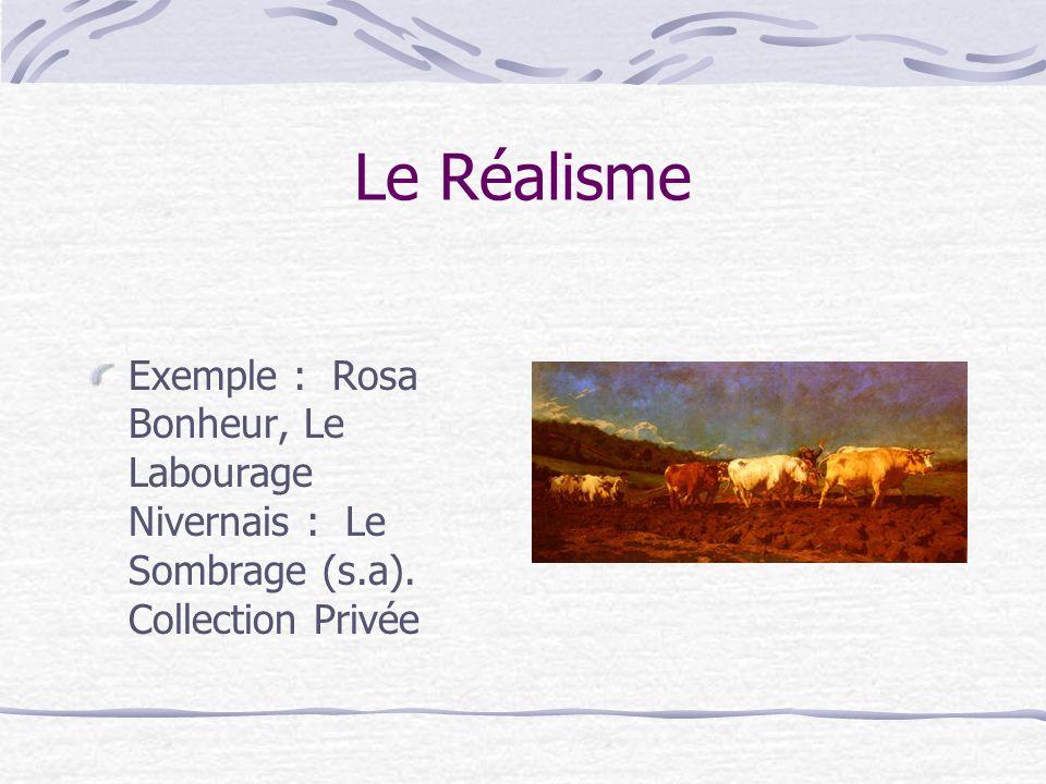 LImpressionnisme Exemple : Claude Monet, Impression, soleil levant (1872). Musée Marmottan, Paris.