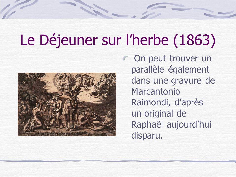Mais même pour les plus enclins à le soutenir, comme Théophile Thoré, un ami de Baudelaire, lui-même ami de Manet : « Le Bain est dun goût bien risqué.