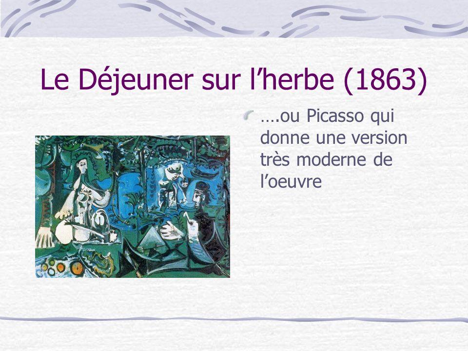 Le Déjeuner sur lherbe (1863) Quy a-t-il de choquant dans ce tableau?