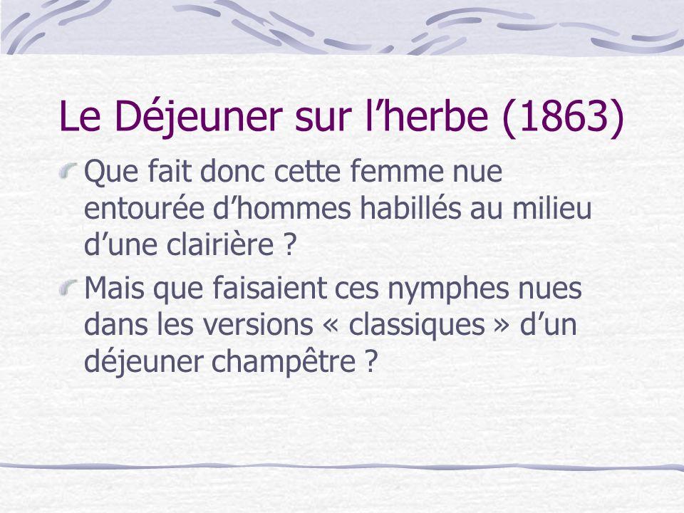 Le Salon de 1865 Autre Nu, autre scandale .