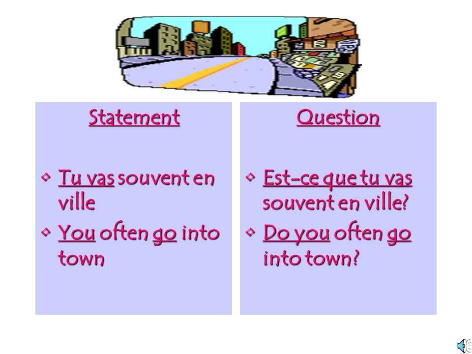 2. Use est-ce que….? You can make any statement into a question by simply adding est-ceest-ce que que on the beginning. This way you dont have to to t
