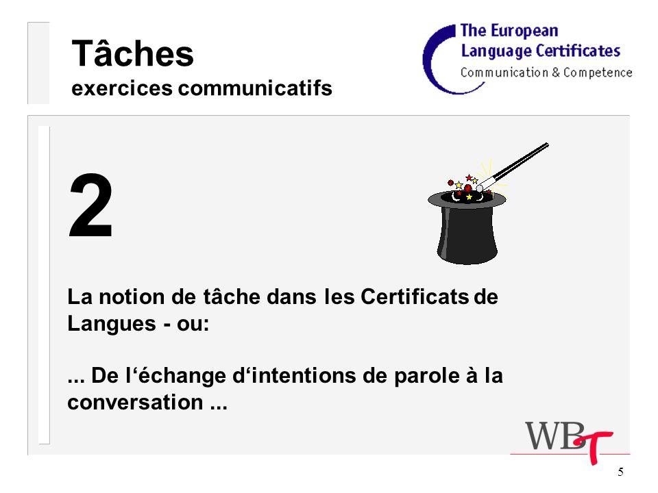 76 Tâches exercices communicatifs Tâches Tâches Compétences de production Parole Ecriture - Lettres, p.ex.