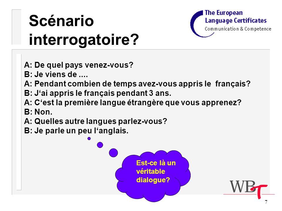 68 g) Si lun des candidats vous pose une question telle que Pouvez-vous me dire comment on dit cela en français.