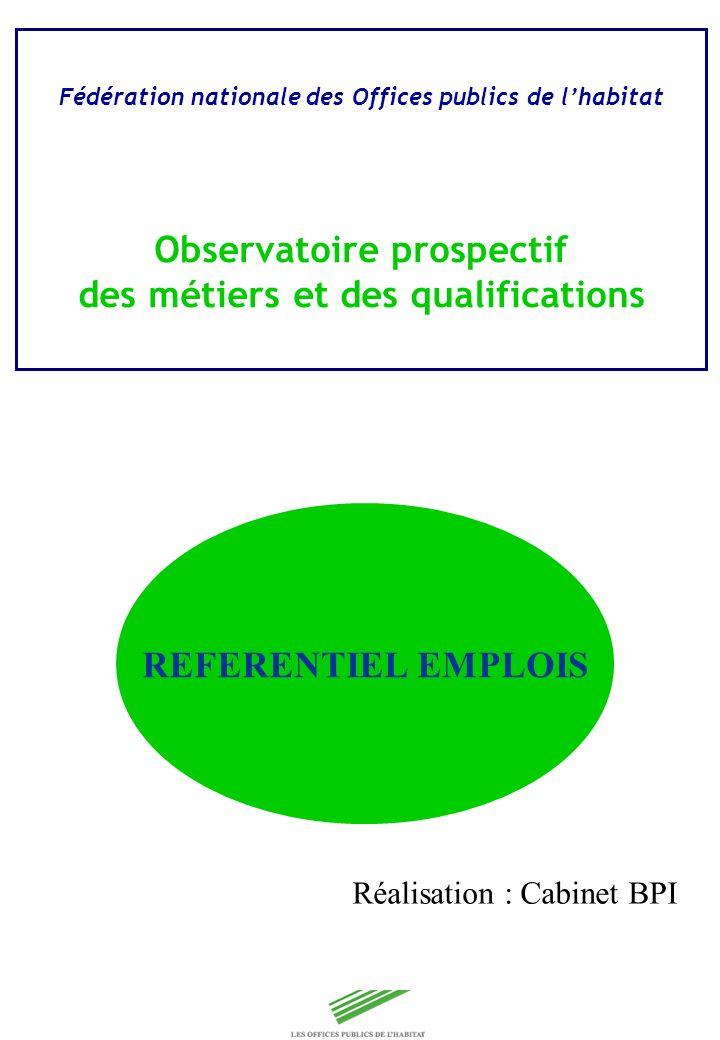 Copyright Groupe BPI Fédération nationale des Offices publics de lhabitat Observatoire prospectif des métiers et des qualifications REFERENTIEL EMPLOI