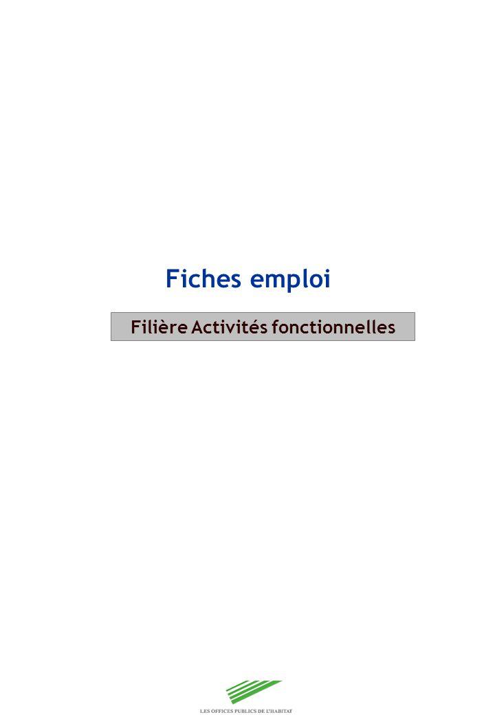 Copyright Groupe BPI Fiches emploi Filière Activités fonctionnelles
