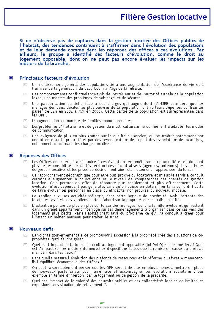 Copyright Groupe BPI Filière Gestion locative Si on nobserve pas de ruptures dans la gestion locative des Offices publics de lhabitat, des tendances c