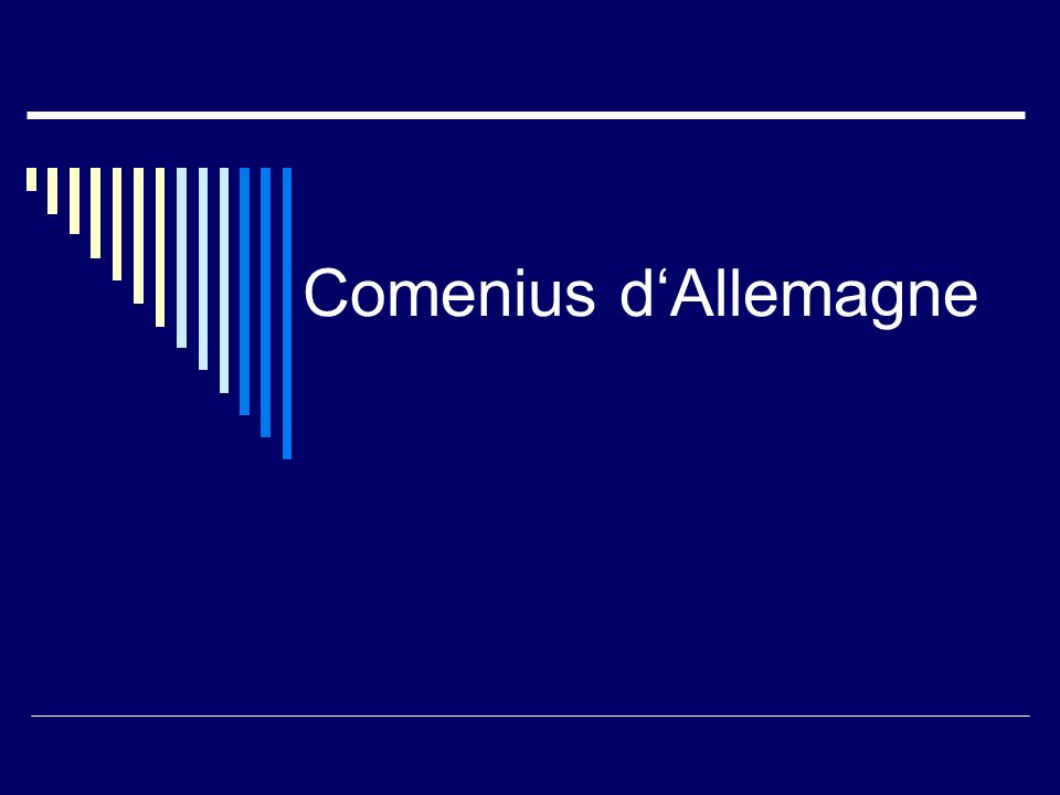 Comenius dAllemagne