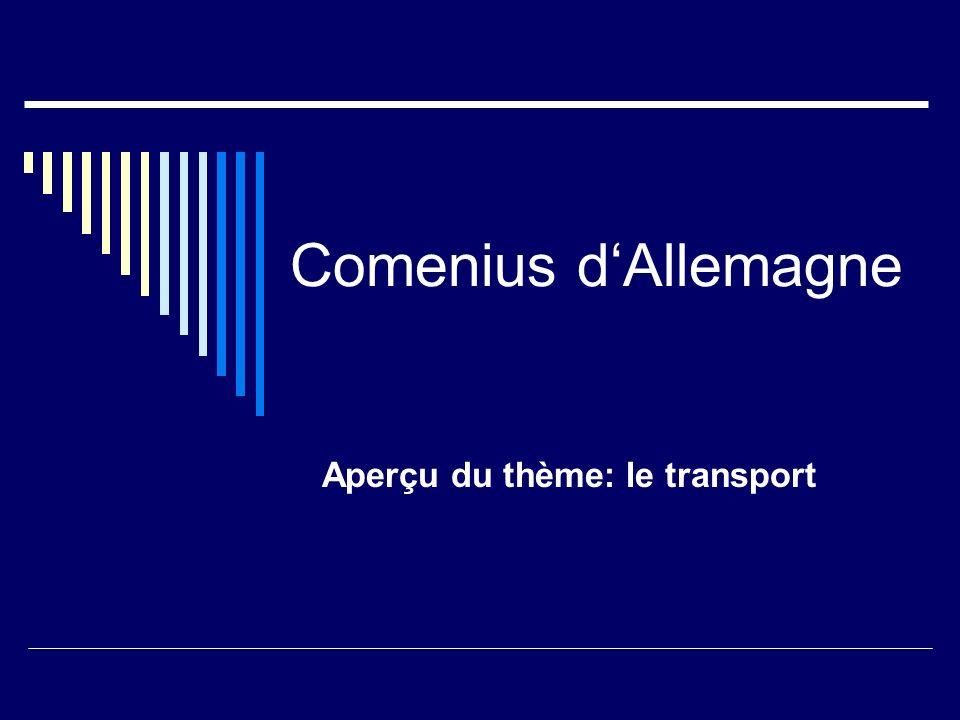 Comenius dAllemagne Aperçu du thème: recyclage