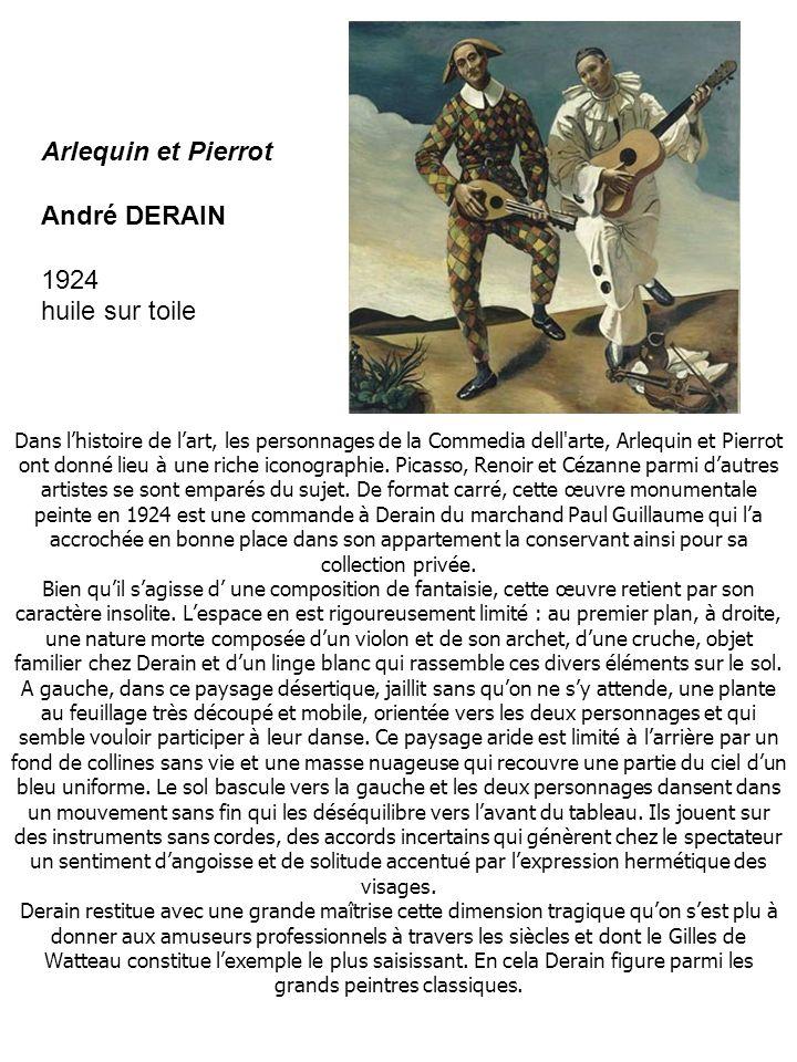 Dans lhistoire de lart, les personnages de la Commedia dell arte, Arlequin et Pierrot ont donné lieu à une riche iconographie.