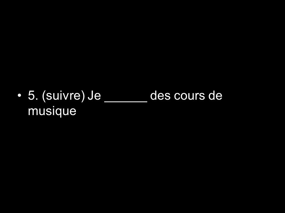 Conditional Sentences (contd.) To express a real condition, French uses the present indicative in the si clause and the present, future, or imperative in the result clause.