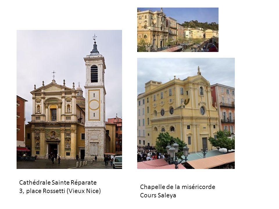 Cathédrale Sainte Réparate 3, place Rossetti (Vieux Nice) Chapelle de la miséricorde Cours Saleya