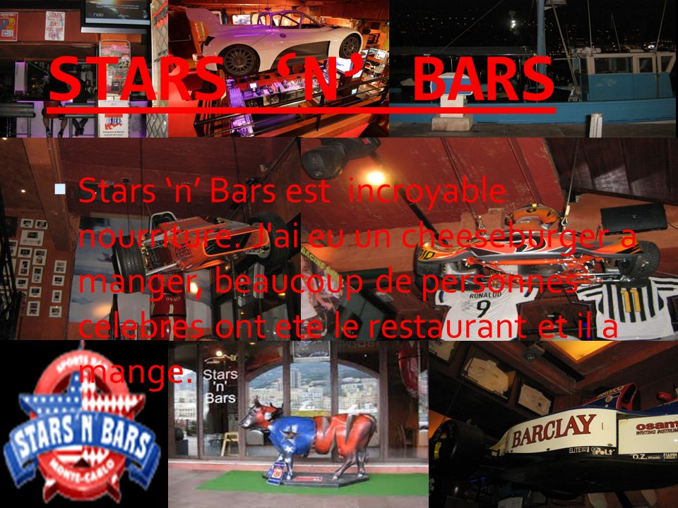 STARS N BARS Stars n Bars est incroyable nourriture.