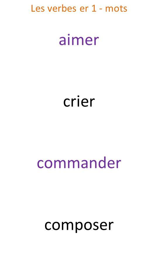 aimer crier commander composer Les verbes er 1 - mots