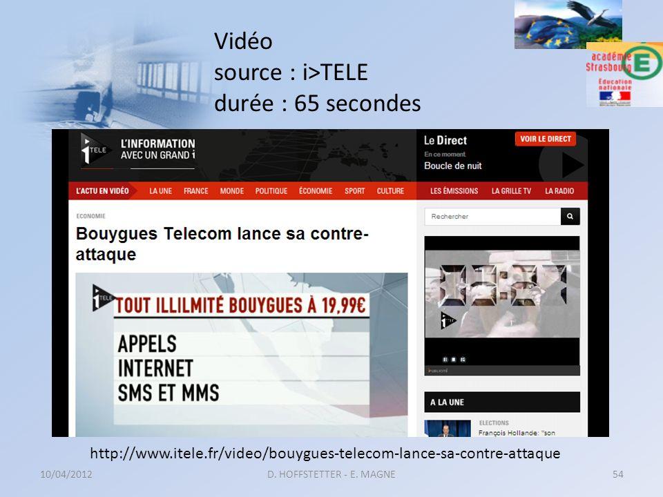 Vidéo source : i>TELE durée : 65 secondes 10/04/2012D. HOFFSTETTER - E. MAGNE54 http://www.itele.fr/video/bouygues-telecom-lance-sa-contre-attaque