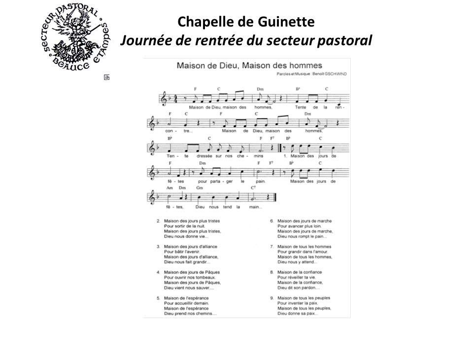 Chapelle de Guinette Journée de rentrée du secteur pastoral
