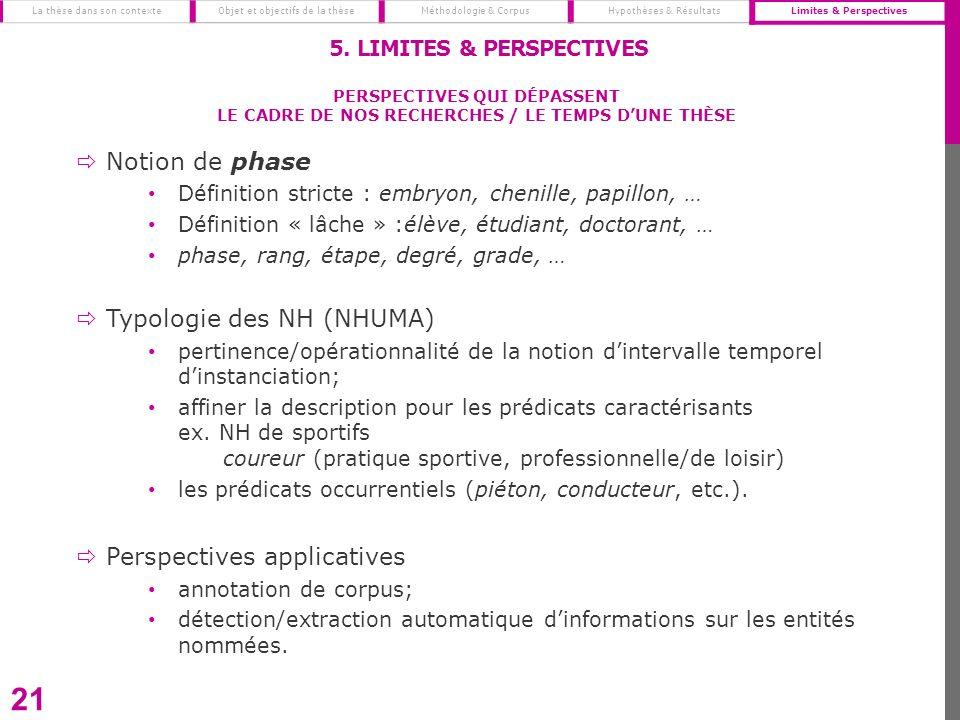 Notion de phase Définition stricte : embryon, chenille, papillon, … Définition « lâche » :élève, étudiant, doctorant, … phase, rang, étape, degré, gra