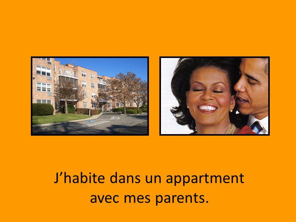 Jhabite dans un appartment avec mes parents.