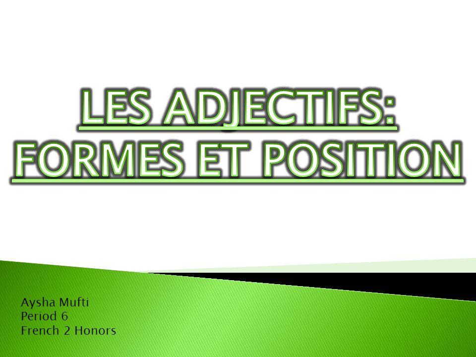 Aysha Mufti Period 6 French 2 Honors