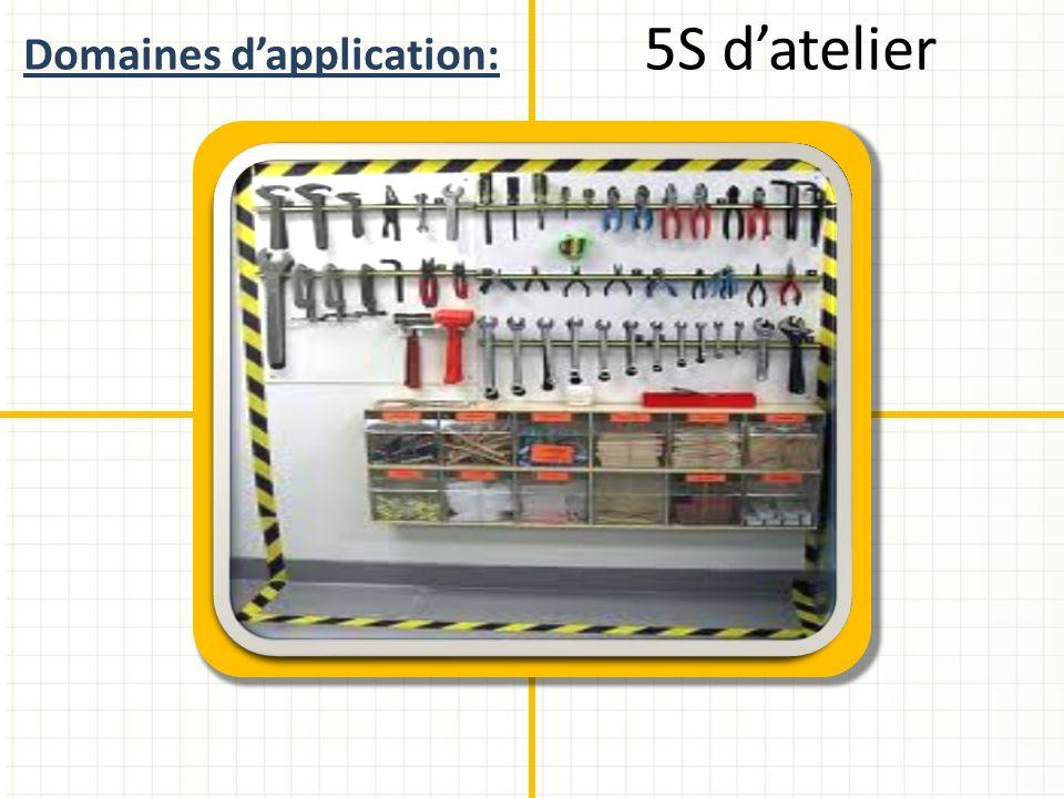 Domaines dapplication: 5S datelier