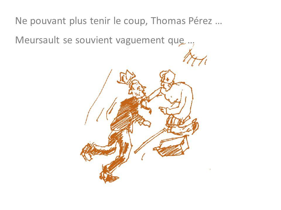 Ne pouvant plus tenir le coup, Thomas Pérez … Meursault se souvient vaguement que …