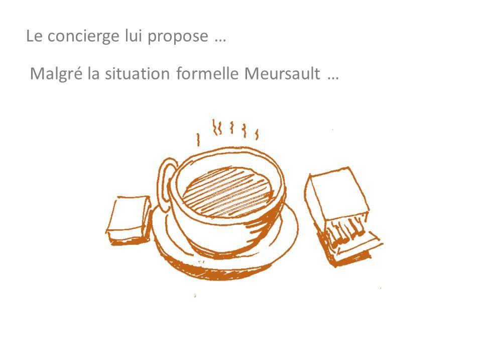 Le concierge lui propose … Malgré la situation formelle Meursault …