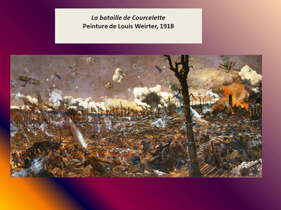 La bataille de Courcelette Peinture de Louis Weirter, 1918