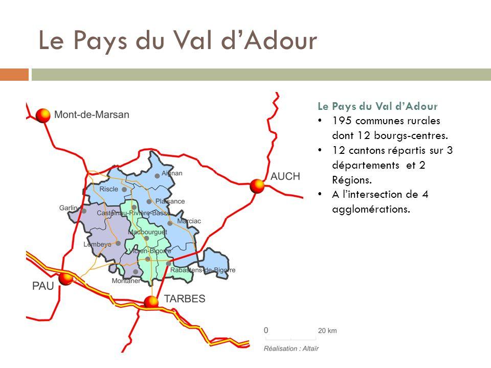 Le Pays du Val dAdour 195 communes rurales dont 12 bourgs-centres.